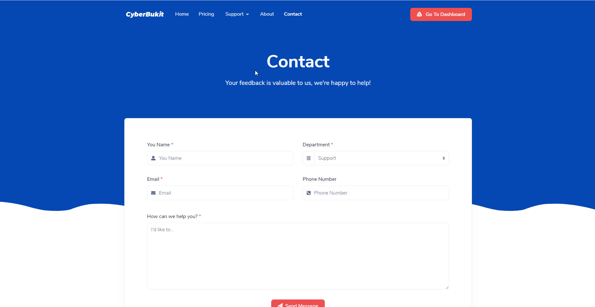 Front-End Contact Form